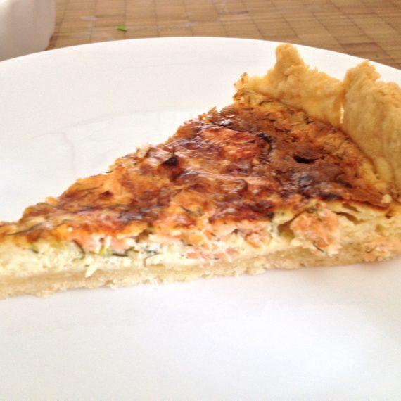 shortcrust tart w/ smoked salmon