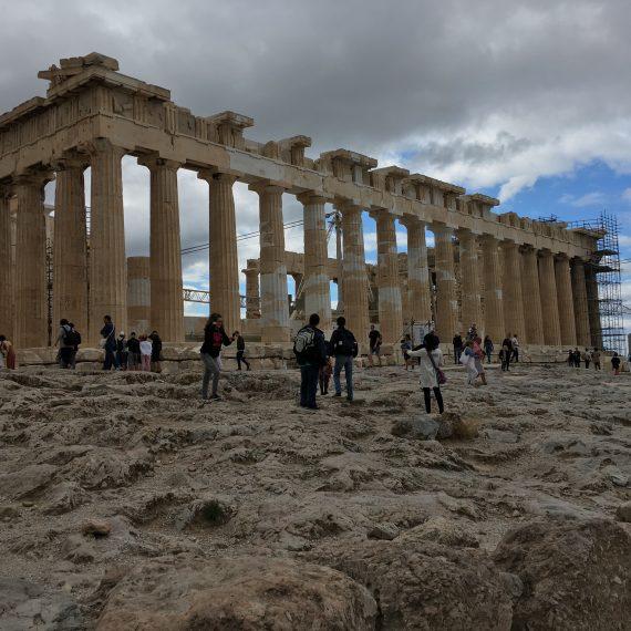 einmal auf der akropolis