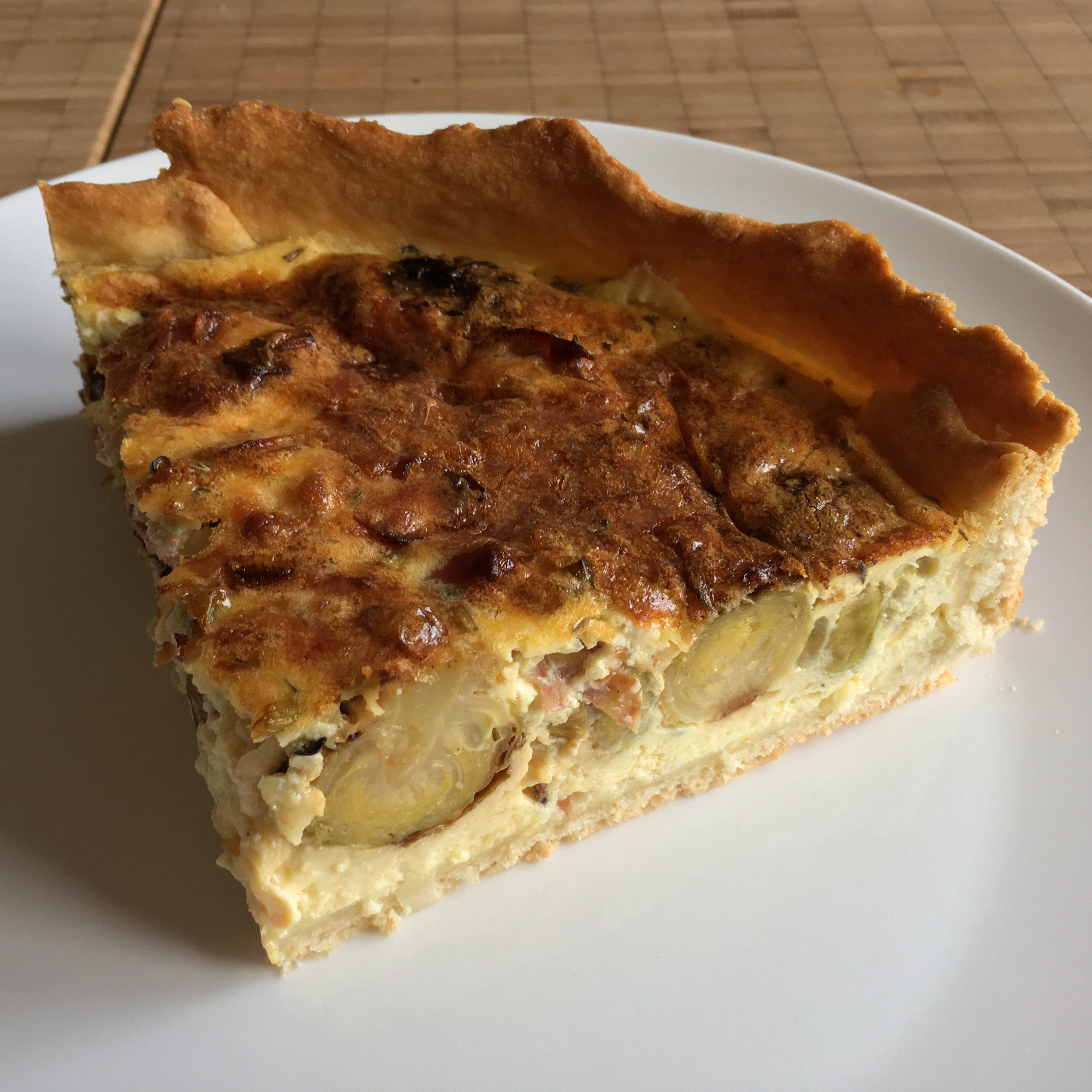 leaving winter w/ brussels sprouts quiche