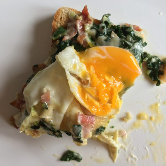 toast & spinach & egg